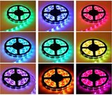 2 meter RGB Led Strip 60led/m + controller, voeding en remote_