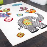 Olifant design speelkleed speeltapijt wit_