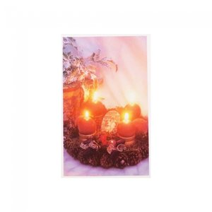 Kerstkaart Candle Lights