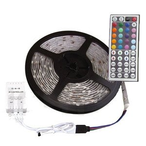 2 meter RGB Led Strip 60led/m + controller, voeding en remote