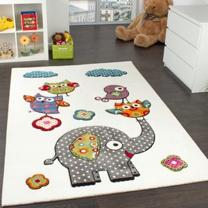 Olifant design speelkleed speeltapijt wit