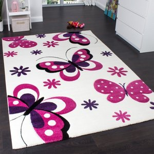 Vlinders design speelkleed wit - roze 13mm